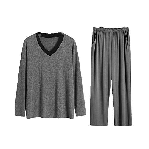 El otoño y el invierno de los hombres pijamas de ropa de casa de manga larga