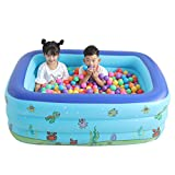 E-SCENERY Inflatable Pool, Rectangular Above Ground Swimming Pools for Toddlers, Kids, Family, Above Ground, Backyard, Outdoor