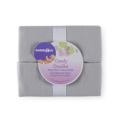Babies R Us Grey Knit Bassinet Sheets - 2 Pack