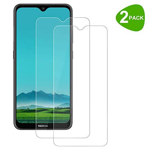 ZYUTON [2 Stück] Panzerglas für Nokia 7.2 / Nokia 6.2, Schutzfolie [9H Festigkeit] 2.5D [HD Clear] Bildschirmschutzfolie Folie [Blasenfrei] [Anti-Kratzen]