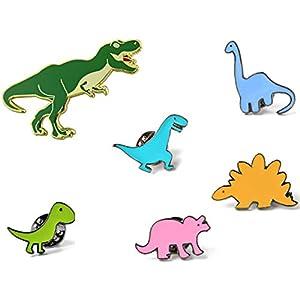 KimYoung Dinosaur Pins for Backpacks Jurassic Dinosaur Enamel Pin Set Cute Enamel Pins