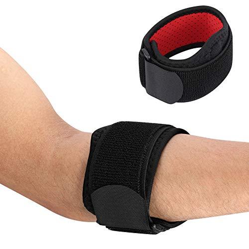 Haofy Ellenbogenbandage Einstellbar Tennisarm Bandage, Fitness Neopren Ellenbogenmanschette für Golferarm Tennisarm zu Unterarm Joint Schmerzlinderung, Ideal Unterarmbandage für Damen Herren