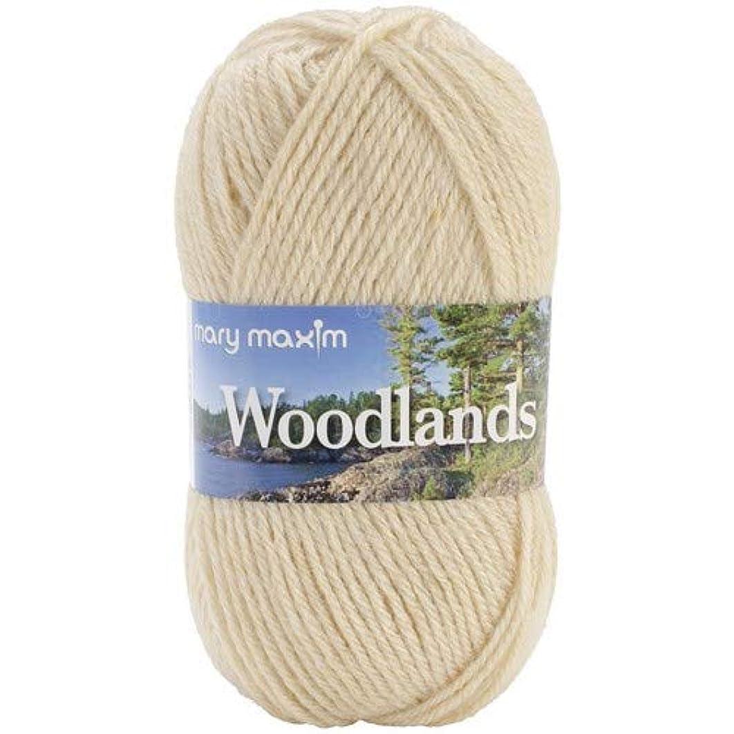 "Mary Maxim Woodlands Yarn ""Flax""   4 Medium Worsted Weight Yarn for Knit & Crochet Projects   90% Acrylic and 10% Alpaca  4 Ply - 200 Yards"