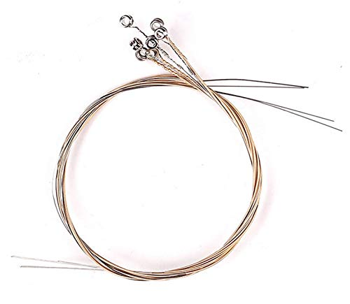 Liyafy A Sets of 7 Lyre Harp Strings Replacement Metal String for Lyre Harp