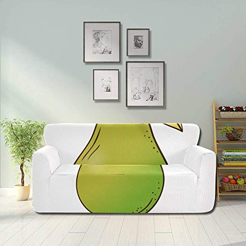 Zemivs Funny Lovely Kawaii Cartoon Pear Stretchable Sofa Covers Protective Couch Cover Fitted Furniture Protector 2&3 Seat Sofas