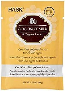 [Hask] Haskのココナッツミルク&ハニーカールが深いコンディショナー50グラムケア - HASK Coconut Milk & Honey Curl Care Deep Conditioner 50g [並行輸入品]