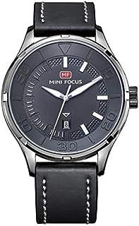 Mini Focus Mens Quartz Watch, Analog Display and Leather Strap - MF0008G.04