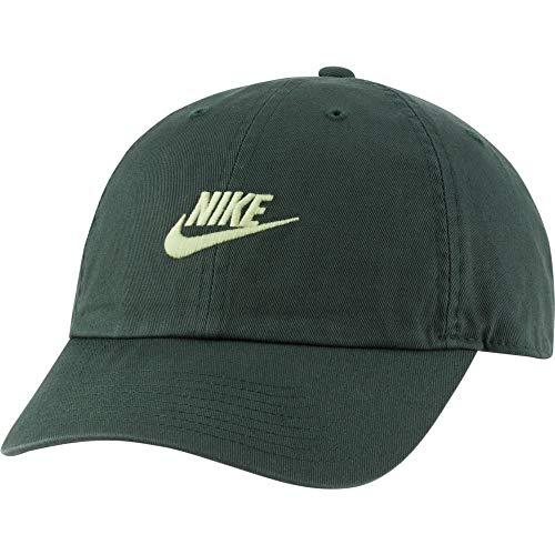 Nike Unisex Sportswear Heritage86 Futura Washed Cap, Galactic Jade/Light Liquid Lime, One Size