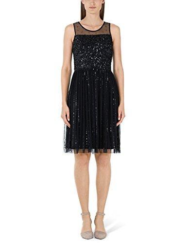 Marc Cain Collections Damen HC 21.41 W91 Kleid, Schwarz (Black 900), (Herstellergröße: N3 / 38)