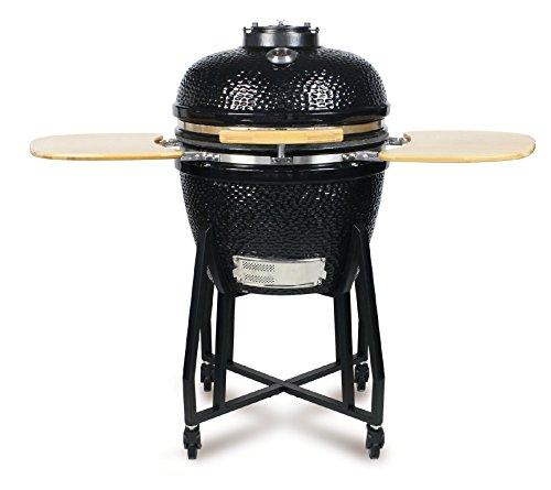 Style'n Cook Røg Kamado Holzkohlegrill, schwarz