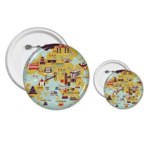 Hong Kong Mapa turístico China Pins Badge Button Design Kit Craft Sets