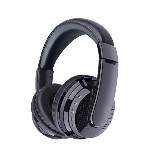 SFBBBO Headset Over Ear Stereo Bluetooth Kopfhörer Wireless Headset Unterstützung SD Tf Karte Radio Mikrofon Gaming Kopfhörer BlackOVLENGLogo