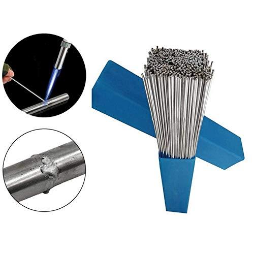 Ouken 10pcs 1.6/2 mm * 50 mm Aluminium-Schweißelektrode Flux Core-Low Temperature Schweißdraht Aluminiumelektrode (Keine Flux) Multi-Tools