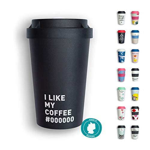 heybico Coffee to go Becher Made in Germany   Frei von Melamin & ohne Bambusfasern   Biologisch abbaubar & kompostierbar (Breakfast)