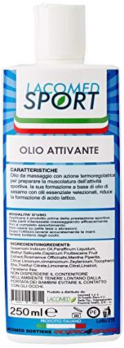 Lacomed Lacomed olio attivante pre gara tubo da 250ml