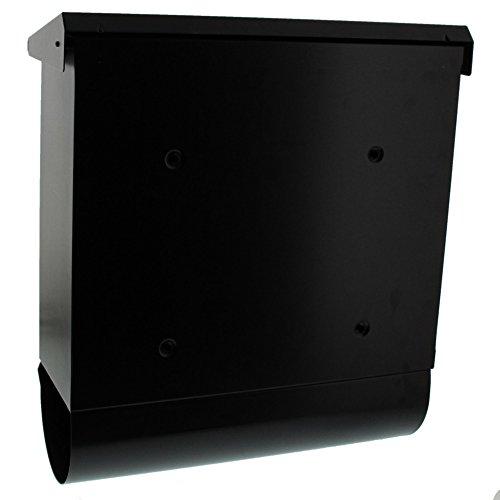 BURG-WÄCHTER, Briefkasten-Set mit integriertem Zeitungsfach, A4 Einwurf-Format, Verzinkter Stahl, Comfort-Set 91300 S, Schwarz - 2