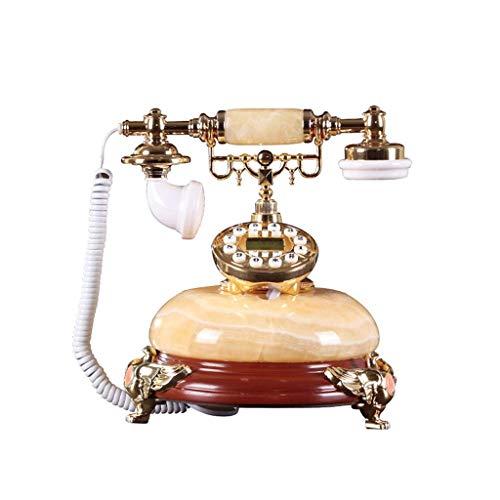ZHJING Vintage Retro Téléphone Natural Jade Home Office Fixe Câble Fixe