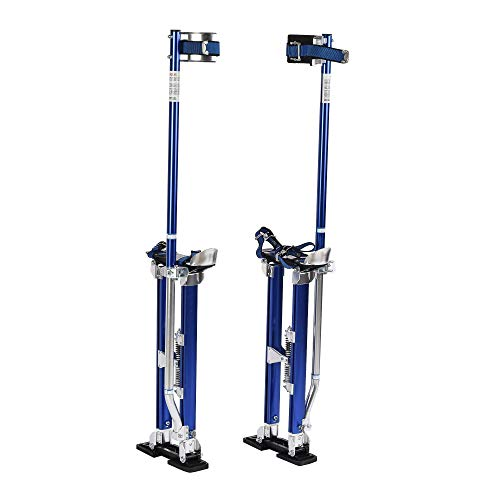 SUNCOO Drywall Stilts 24-40 Inches Adjustable Height Heavy Duty Aluminum Tool Stilt for Painting Painter Taping Blue