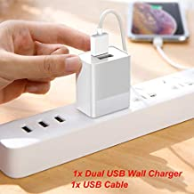 for Orbo Jr. 4GB Android 4.1 Tablet Life-Tech Dual USB Ports Wall Home House AC Charger w/USB Cable