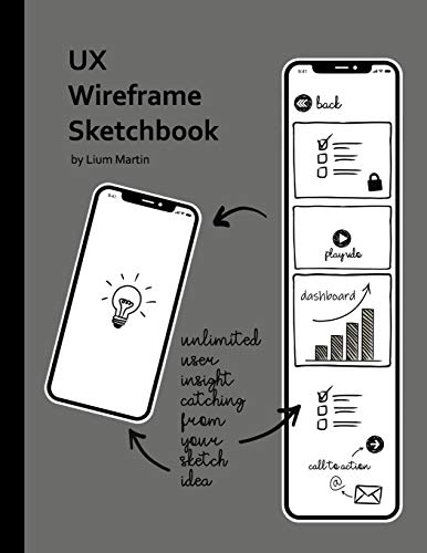 UX Wireframe Sketchbook: Mobile Device UX/UI Wireframe Sketchbook for fast UI Prototype Design and Web App Usability Testing