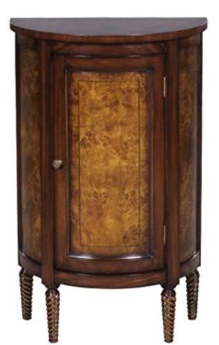 Casa Padrino cómoda Art Nouveau de Lujo marrón Claro/marrón 51 x 28 x H. 82 cm - Pequeño Armario Semicircular con Puerta