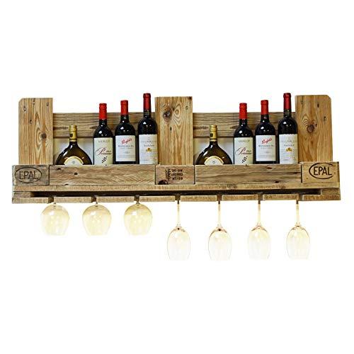 Palettenmöbel Weinregal, Flaschenregal Havanna, Neuholz gebeizt in klassischer Paletten Optik, jedes Teil ist einzigartig und Wird in Deutschland in Handarbeit gefertigt