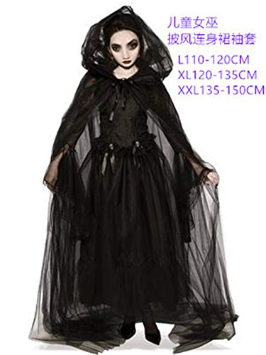 Xiaoai's winkel Ouder-kind kostuum Halloween Horror spook bruid, vampier duivel kostuum feest podium, kindermodellen, XXL