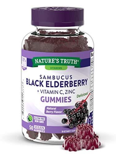 Nature's Truth Elderberry Complex 50 Gummies, 50 Count