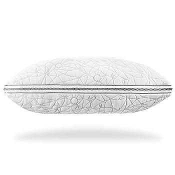 Nestl Gel-Infused Memory Foam Pillow | Shredded Memory Foam Pillow | Cooling Pillow Cover | CertiPUR US Approved | King Pillows for Sleeping