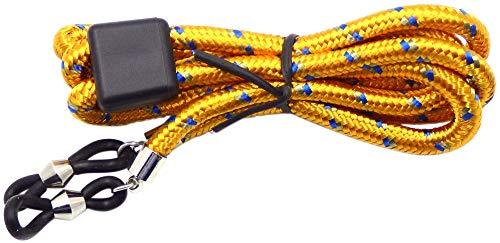 La Optica B.L.M. Herren Brillenband Damen Kinder - Brillenkette Bunt 65cm für Sonnenbrillen, Lesebrillen, Sport, Farben, Gelb, Blau