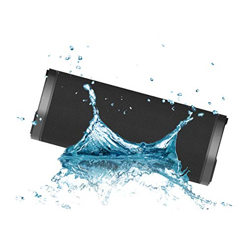 Hiditec | Altavoz Potente Portátil Negro Urban Rok L con Bluetooth + Jack + SD | Mini Altavoces Inalámbricos Autoamplificables | True Wireless | Impermeable y Resistente al Agua
