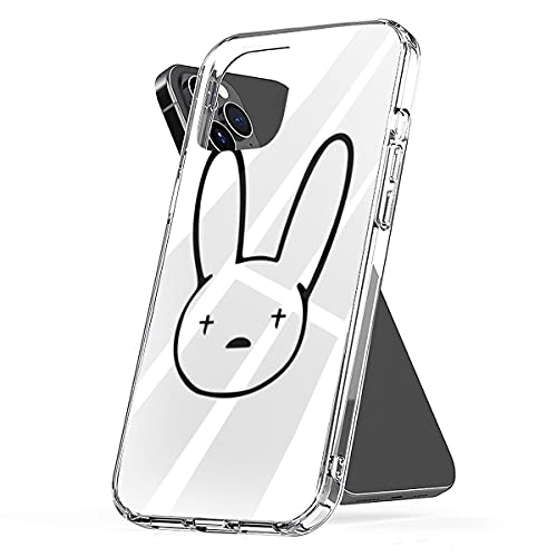 Phone Case Compatible with iPhone Bad Accessories Bunny Shock Sticker Waterproof Best Scratch Quality - Bad Bunny Logo Decal X100pre 6 7 8 Plus Se 2020 X Xr 11 Pro Max 12 Mini