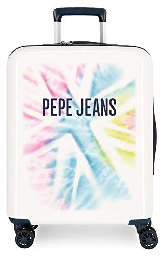 Pepe Jeans Eevie Maleta de Cabina Multicolor 40x55x20 cms Rígida ABS Cierre TSA 38.4L 2,9Kgs 4 Ruedas Dobles Equipaje de Mano