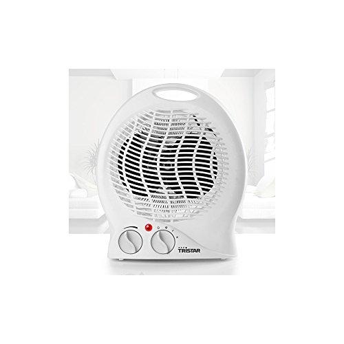Tristar Heizlüfter mit Ventilatorfunktion - mit 3 einstellbaren Leistungsstufen, regelbarer Heizstufe, integrierter Griff, Überhitzungsschutz, KA-5039