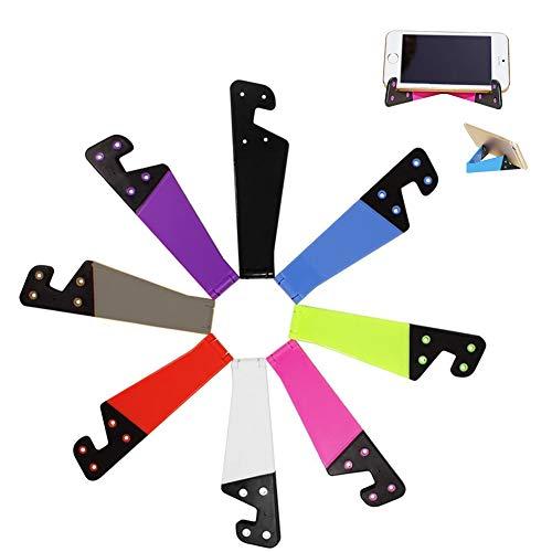 8 Soportes Universales Para Teléfonos Móviles, Juego De Soportes En Forma De v De Bolsillo Plegable De Plástico, Portátil a Color, Ipad, Tableta, Lector Electrónico, Teléfono Móvil