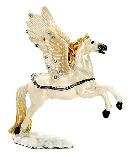 Pastillero con forma de caballo, alas Pegaso, joya, collar, anillo, caja de regalo, caja para joyas, caja de regalo