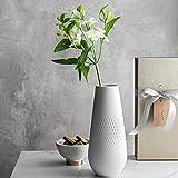 Villeroy & Boch Collier blanc Vase Carré No. 2, Premium Porzellan, Transparent, 12.5 x 12.5 x 14 cm - 6