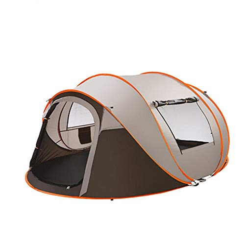 PN-Braes Family Tent 3 In 1 5-8/3-4 Person 210D Oxford Cloth Waterproof UV Family Tent Auto Setup Camping Sun Shelters Hiking Travel Beach Sunshade Pop-Up Tents