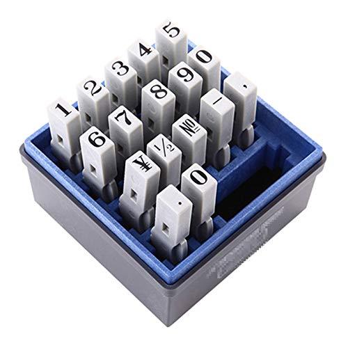 TWW Digitale Siegelkombination 0-9 einstellbares Datum Dateinummer Produktionscode Nummer, Maschine Englisch Buchstabensymbol kleines Siegel,1