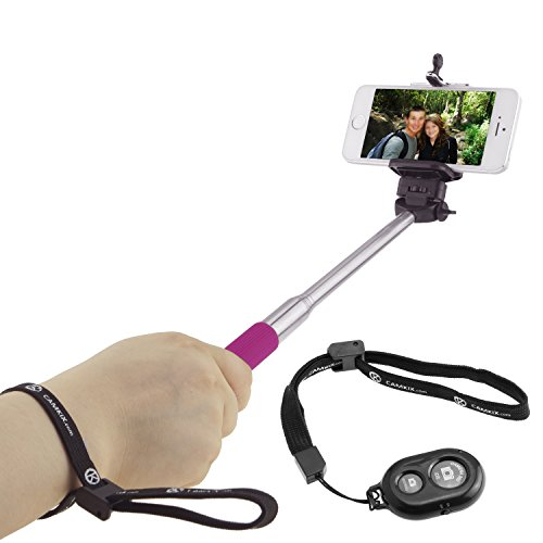 Selfie Stick with Bluetooth Remote for Smartphones - with Universal...