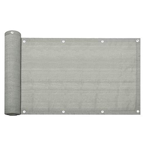 Karpal HDPE Balkon Sichtschutz UV-Schutz Windschutz Balkonbespannung Sonnenschutz Windschutz Sichtblende Grau 90x600cm
