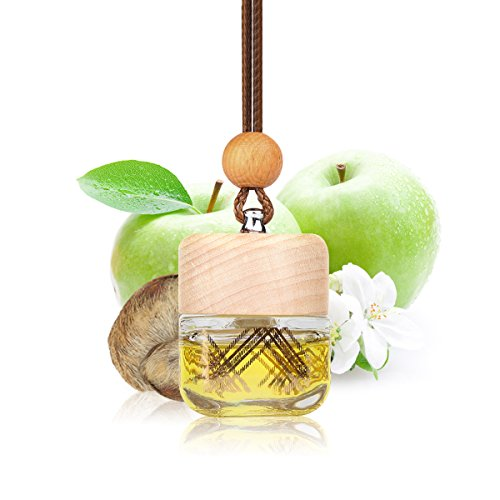 L J Auto Lufterfrischer, Autoduft, original französisches Parfumöl hergestellt bei Mane®, Auto Zubehör, Auto Duft, Leichter Duft fürs Auto, Hängefläschchen im Fahrzeug, Raumduft, 7ml (G-1232)