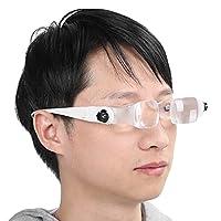 ヘッドマウント拡大鏡、拡大鏡長さの長いヘッドマウント、タブレット用携帯電話用弾性ヘッドバンド調整ホイール付き(260-360mm focal length)