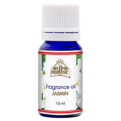 Jazmín Fragancia Aceite 10ml - para Aroma Lámpara & Difusor - Adecuado Para Hacer Velas & Jabones - Para Ramos Secos & Bolsitas Perfumadas - Productos Para Cuidado Cuerpo & Piel