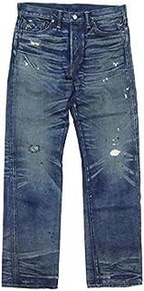 (ダブルアールエル)RRL ラルフローレン メンズ ヴィンテージリペアストレートレッグジーンズ STRAIGHT LEG ブルー 30×32 [並行輸入品]