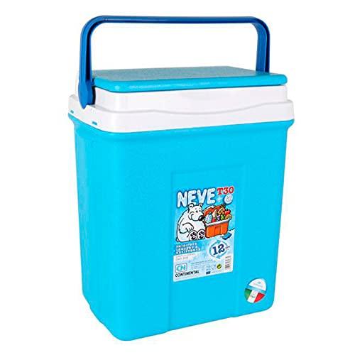 Acan Nevera portátil con asa, 30 litros, 46 x 40 x 26 cm, Polipropileno, Azul y Blanco, Porta Alimentos para Playa, Acampada, Camping