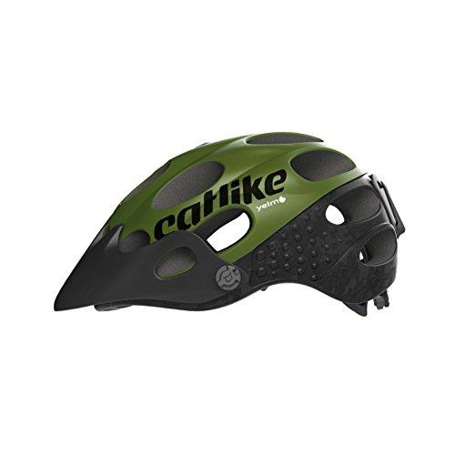 Catlike Helm Fahrradhelm, Schwarz (Black/Dark Green), LG