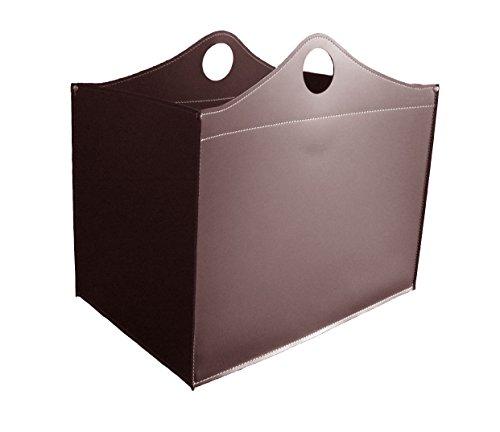 Woodbag Édition limitée : Panier à bûches en cuir Marron foncé Couleur, stockage de bois de chauffage, bois de chauffage journaux, support pour bois de chauffage, bois de chauffage Rack.