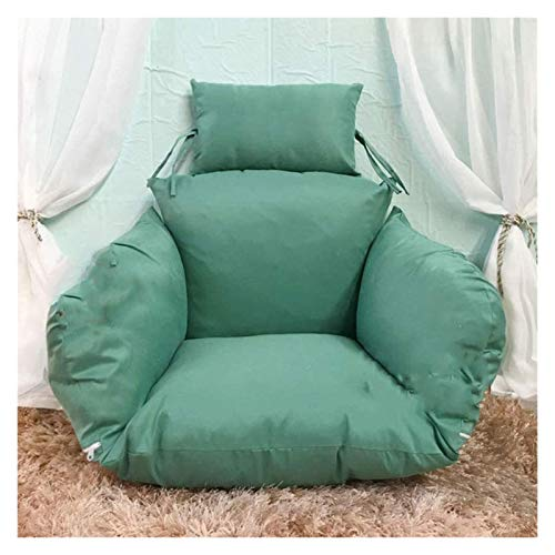 ZHZH Outdoor/Indoor Furniture Chair Cushion Hanging Egg Chair Pads, Swing Chair Nest Single Basket Hanging Egg Hammock Chair Cushions Removable and Washable (Color : Green)