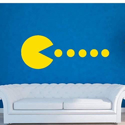 Pacman Home Decorations Familie Vinyl Aufkleber Kunst Wandaufkleber Wohnzimmer Wandtattoos Für Spielzimmer Kunst Wandbild 30X80Cm